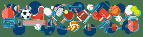 Illustration of sports equipment