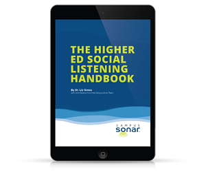 Tablet image of The Higher Ed Social Listening Handbook Tablet